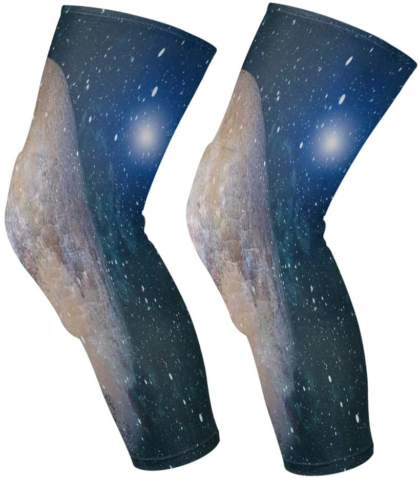 Knee Pads Marvellous Galaxy Stars Knee Sleeves, Knee Support, Elbow Pads, Shin Pads, Knee Brace For Volleyball, Basketball, Footbal, Yoga, Sports, Youth & Adult Sizes, For Women Men 1 Pair