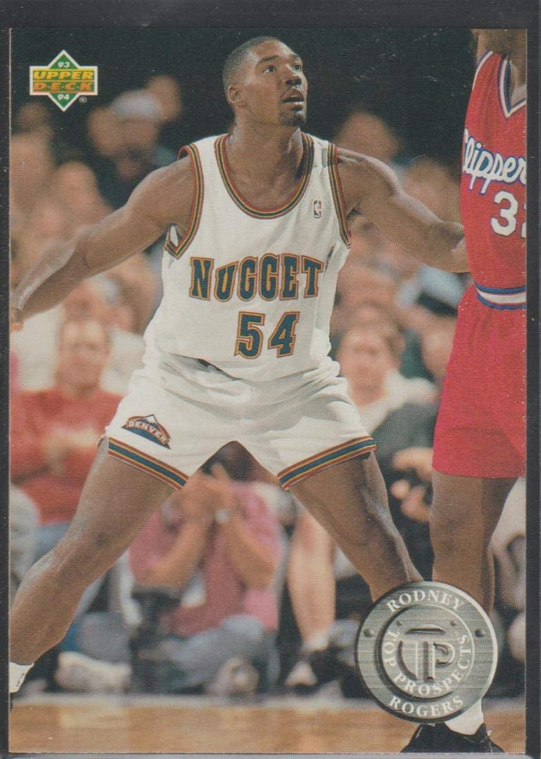 1993-94 Upper Deck Rodney Rogers Nuggets Rookie Basketball Card #491