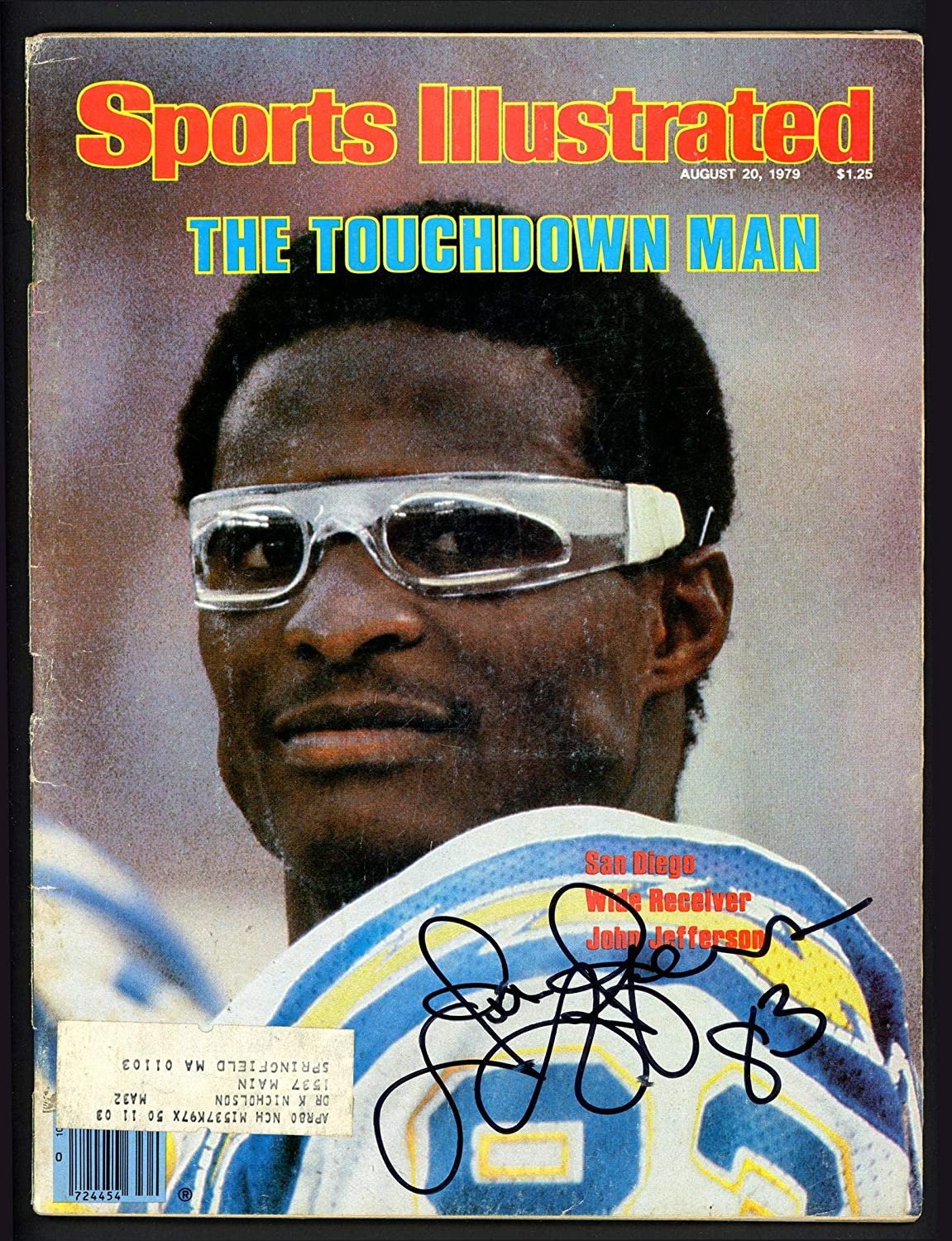 John Jefferson Autographed Sports Illustrated Magazine San Diego Chargers Beckett BAS #S76540 - Beckett Authentication