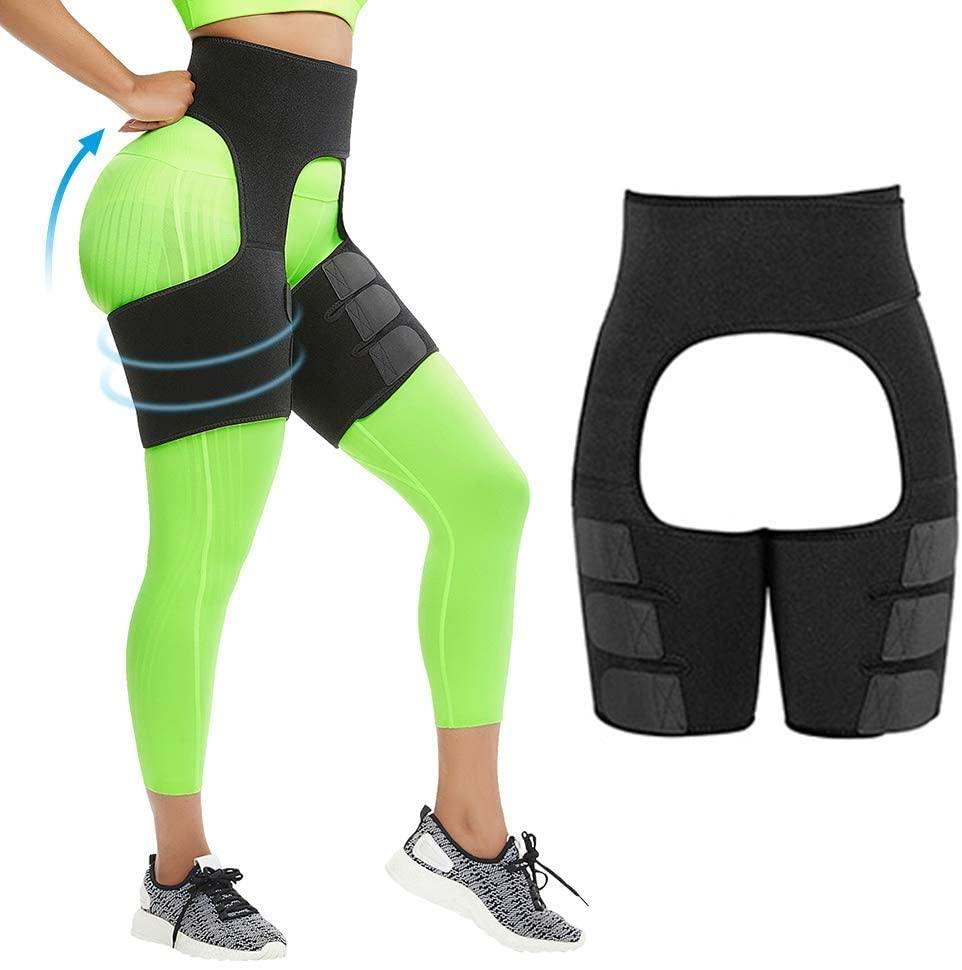 Meeks Thigh Trimmer High Waist Waist and Thigh Trimmer Butt Lifter Training Ultra Light Thigh Support Shapewear