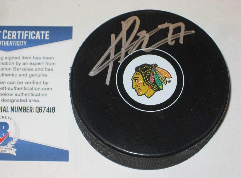 Kirby Dach Signed Hockey Puck - w Beckett COA - Beckett Authentication - Autographed NHL Pucks