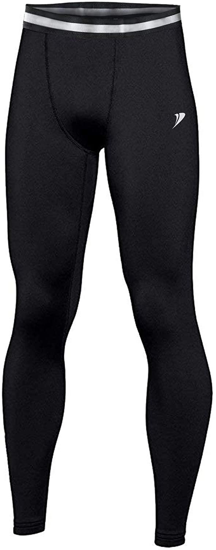 DEMOZU Youth Boys' Compression Thermal Fleece Lined Baselayer Leggings Basketball Baseball Running Tights