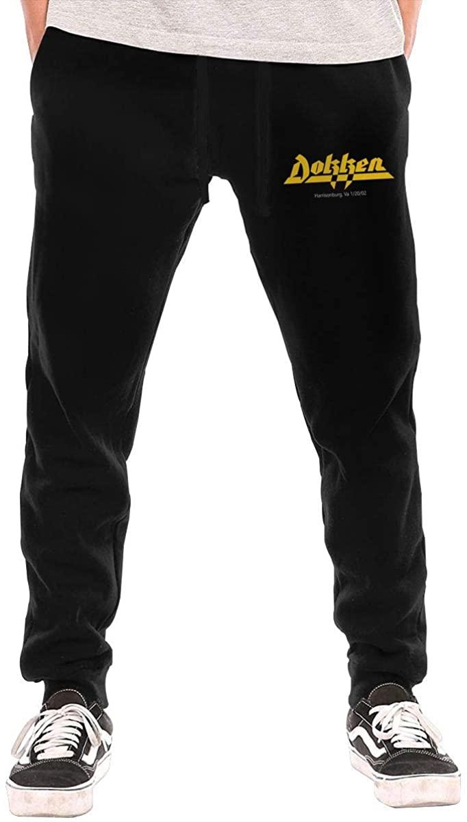 AP.Room Men's Dokken Metal Band Sports Casual Pants Black