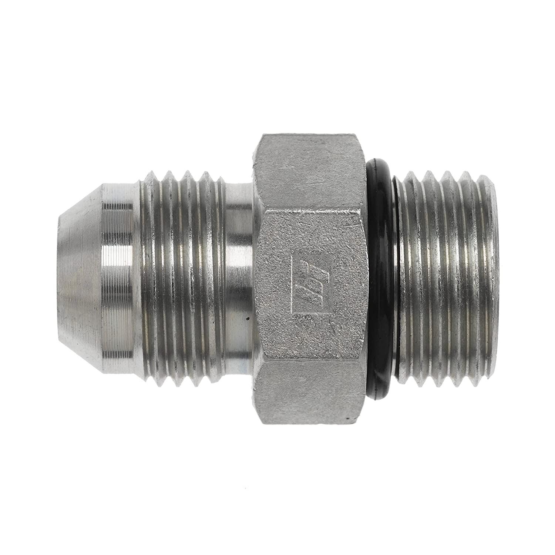 Brennan Industries 6400-32-24-O Steel Straight Tube Fitting, 2-1/2-12 SAE x 1-7/8-12 SAE ORB Thread, 2 Male JIC x 2 Male O-Ring Boss