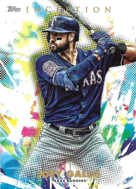 2020 Topps Baseball Inception #68 Joey Gallo Texas Rangers Official MLB Trading Card