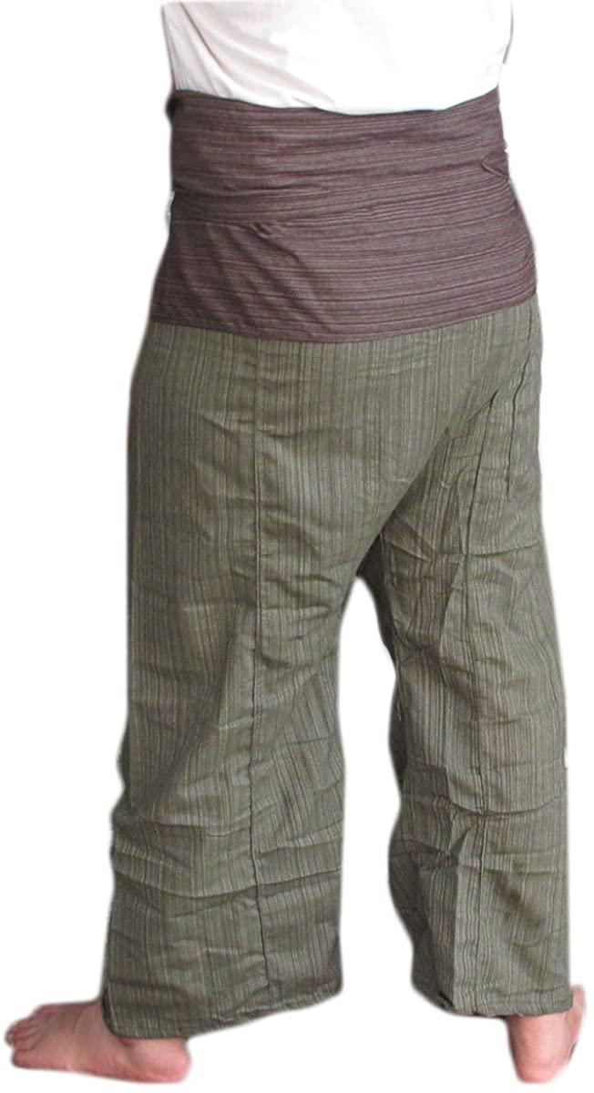 2 TONE Thai Fisherman Pants Yoga Trousers FREE SIZE Plus Size Cotton