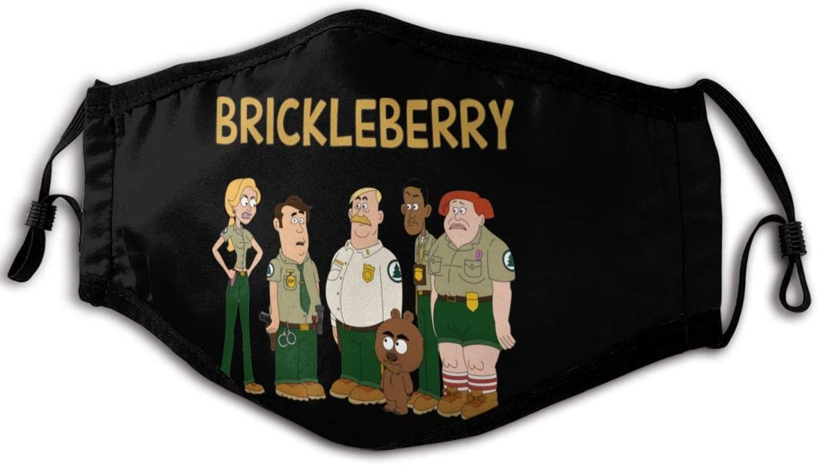 Qwertyi Brickleberry Anti Dust Face Mouth Cover Reusable for Men Women