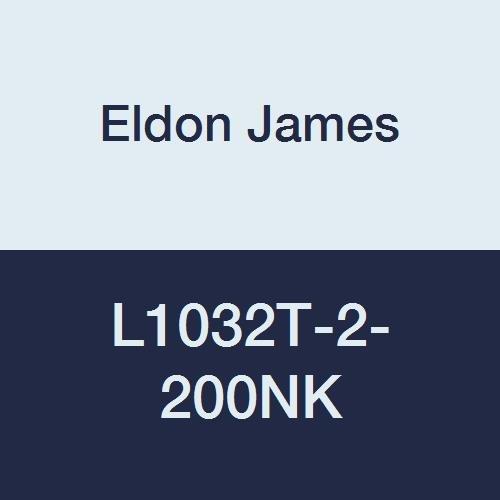 Eldon James L1032T-2-200NK Natural Kynar Threaded Elbow, 10-32 Taper Thread to 1/8