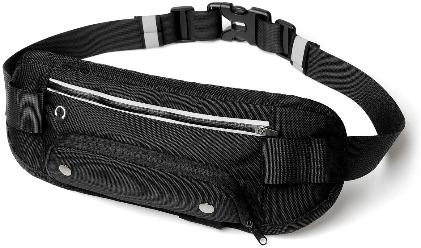 YZLSPORTS Outdoors Workout Traveling Casual Running Hiking Cycling Soft Polyester Water Resistant Waist Pack Bag Fanny Pack for Men Women Hip Bum Bag with Adjustable Strap