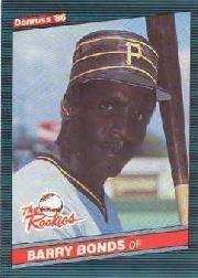 1986 DonrussRookies Baseball Rookie Card #11 Barry Bonds