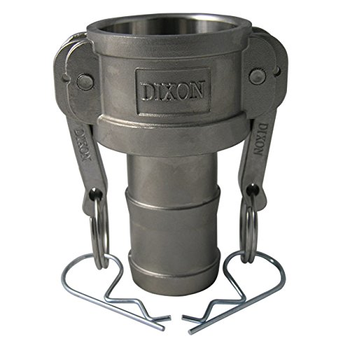 Dixon Sanitary Cam and Groove Female Coupler x Hose Shank (Global Type C), A380 Permanent Mold Aluminum - 1