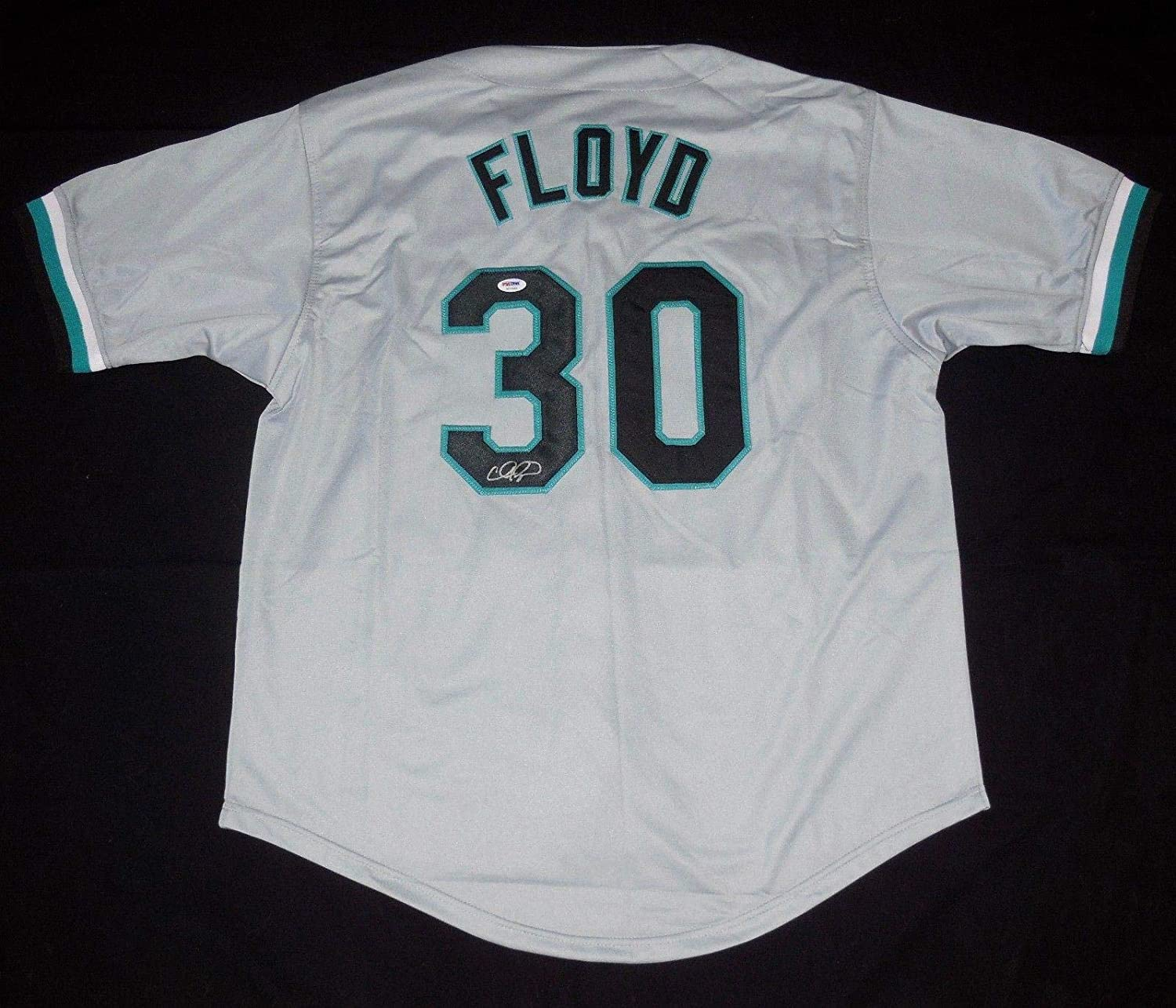 Cliff Floyd Autographed Jersey (florida Marlins) - ! - PSA/DNA Certified - Autographed MLB Jerseys