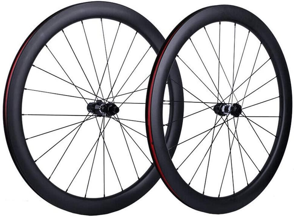 HULKWHEELS Carbon Fiber Road Bike Disc Brake Wheelset 700c Carbon Wheelset 25mm Width Clincher Tubeless Rim 30/40/45/55mm Dt Swiss 350s Hub 12/15×100mm/12×142mm