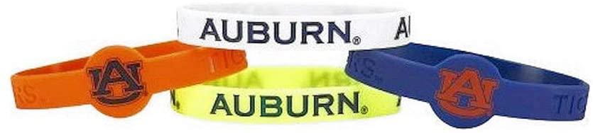 aminco NCAA Auburn Tigers Silicone Bracelets, 4-Pack