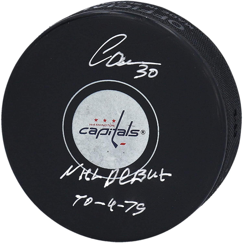 Ilya Samsonov Washington Capitals Autographed Hockey Puck with