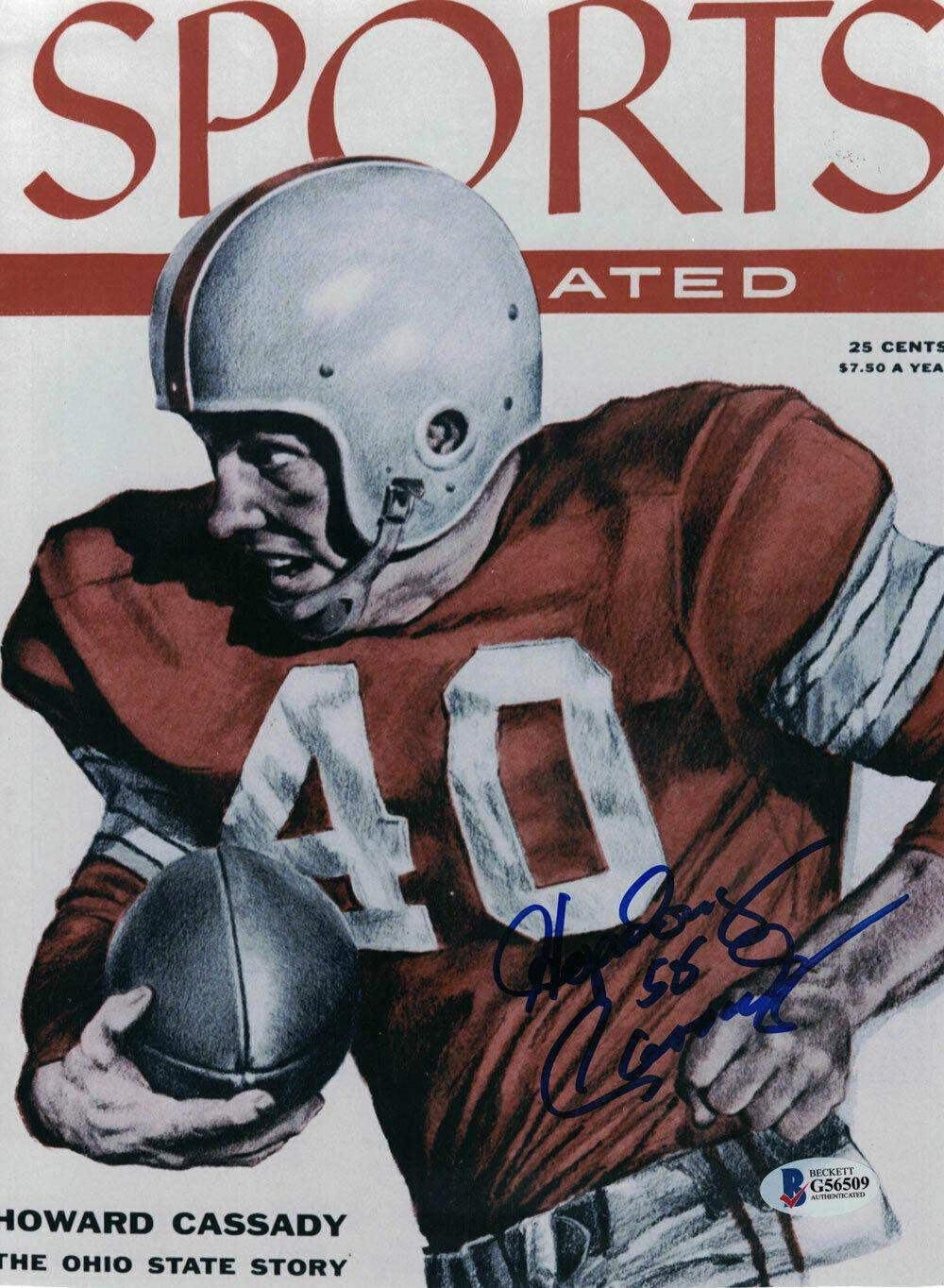 Hopalong Cassady Signed Ohio State Buckeyes Sports Illustrated Cover Reprint - Autographed College Magazines