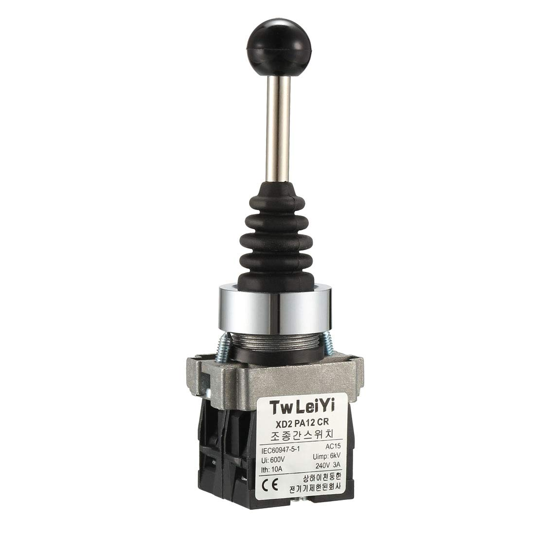 uxcell Joystick Switch Monolever Controllers 2 Position 2NO Latching Type 150/250/600V 15/10/4A 22mm Panel Mount