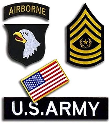 Oyster-Patch USAF US Air Force 101st Airborne Division Screaming Eagles Tactical Patch Hook & Loop