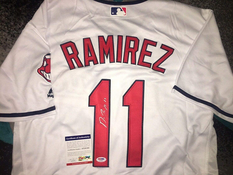 Autographed Jose Ramirez Jersey - Superstar Mvp #2 - PSA/DNA Certified - Autographed MLB Jerseys