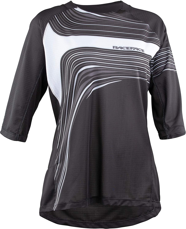Race Face Khyber 3/4-Sleeve Jersey - Women's Black, M