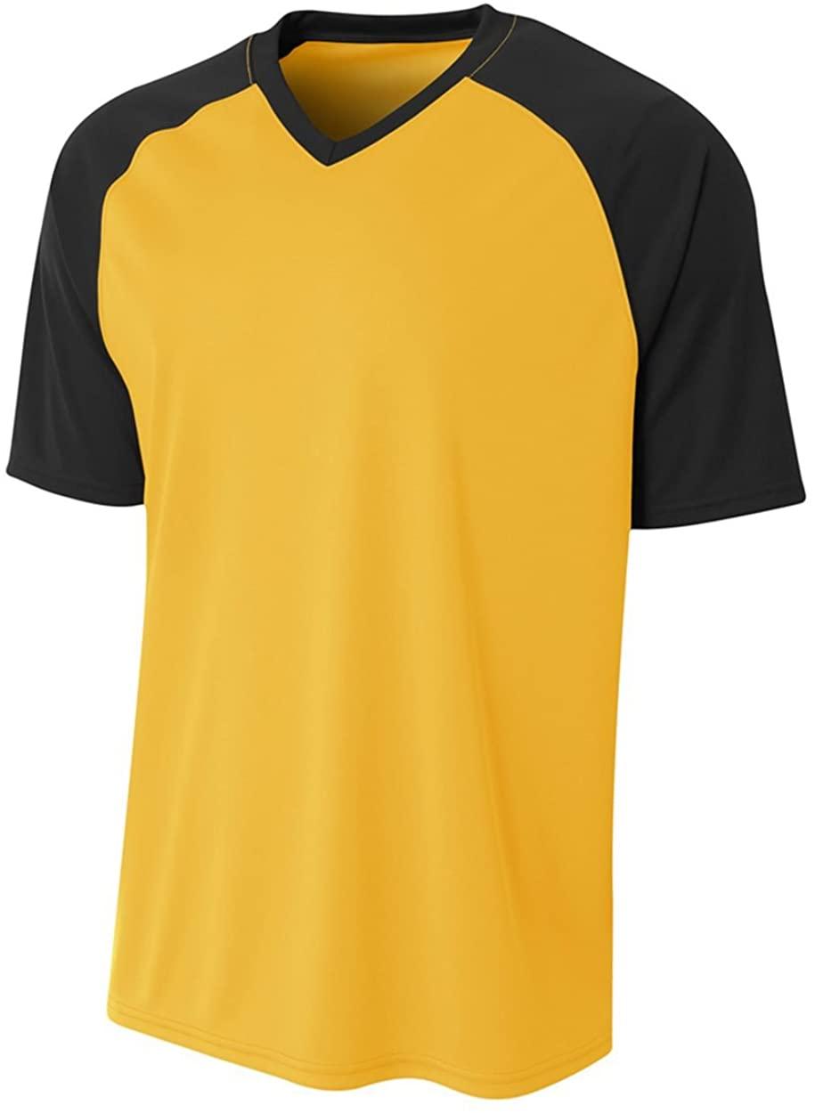 A4 Sportswear Gold/Black Youth Large Strike Jersey (Blank)