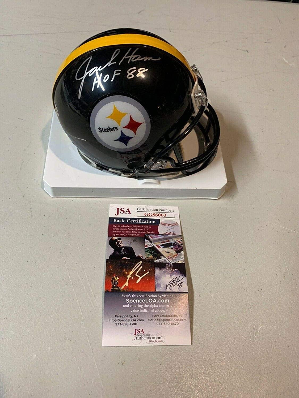 Jack Ham Signed Mini Helmet - HOF 88 - JSA Certified - Autographed NFL Mini Helmets
