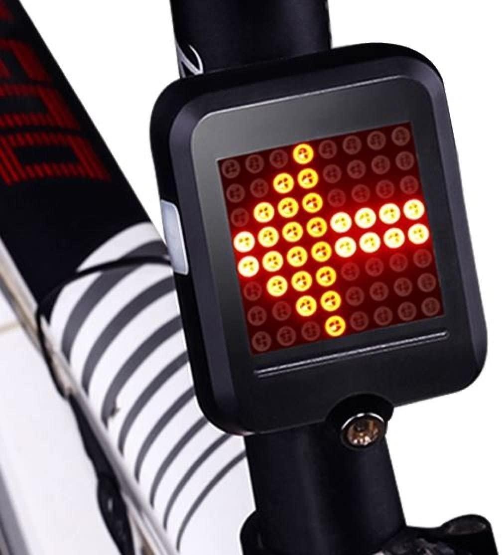 INBIKE Bicycle Light Automatic Direction Indicator Tail Light USB Charging MTB Bike Safety Warning Light