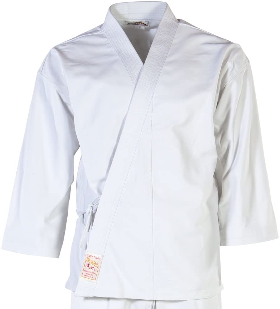 Tiger Claw Karate Uniform 100% Cotton White Hayashi (Top Only)