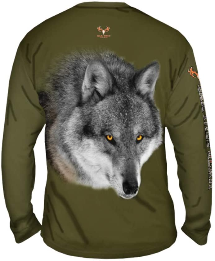 Yizzam OakTreeGear Wolf Valley Mens Long Sleeve UPF 50+ Performance Hunting Shirt
