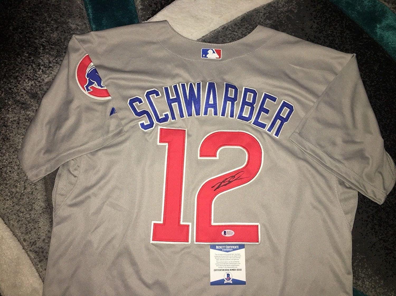 Kyle Schwarber Signed Jersey - Superstar Slugger Beckett - Beckett Authentication - Autographed MLB Jerseys