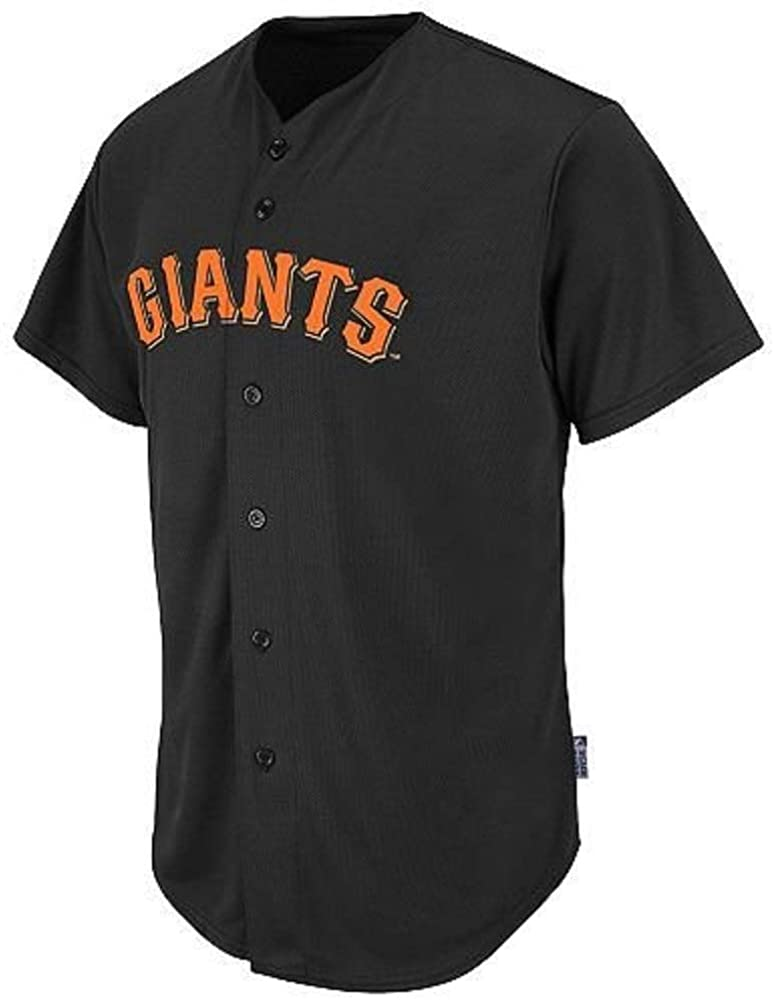 Majestic Athletic San Francisco Giants MLB Cool Base Full Button Replica Jersey (Youth XL)