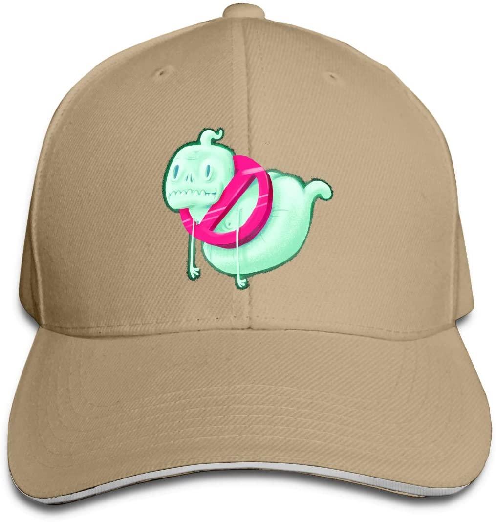 IASIFD Gh-os-t Unisex Flex-fit Hat Hip Hop Baseball Cap Sun Hat Outdoor Cap Natural