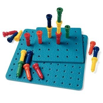 Tall Stacker Lauri Pegboards and Tall Stacker Pegs, Giant Pegboard