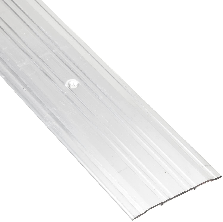 Pemko Fluted Saddle Threshold, Mill Finish Aluminum, 36L x 4W x 0.25H