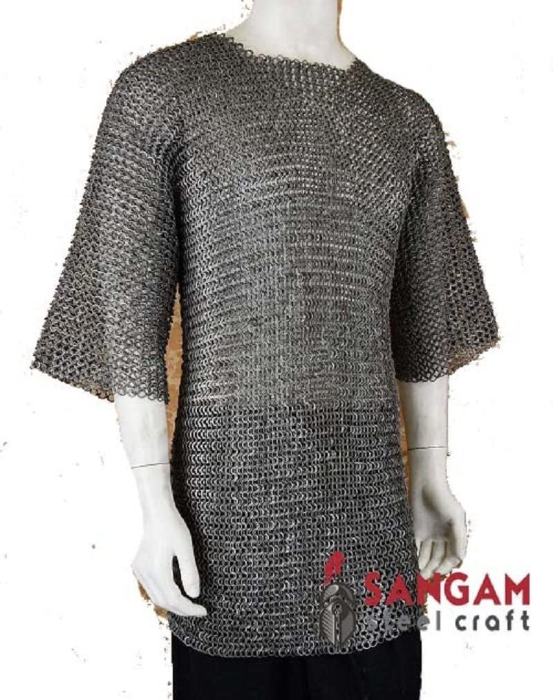 Chain Mail Shirt Armor 9 mm Flat Riveted with Washer MEDIEVAL ARMOUR SCA
