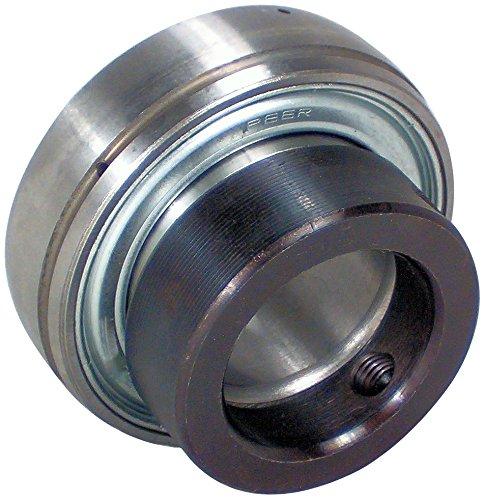 Peer Bearing FHL202-10 Insert Bearing, FHRL200 Series, Narrow Inner Ring, Spherical Outer Ring, Non-Relubricable, Eccentric Locking Collar, Single Lip Seal, 5/8 Bore, 11 mm Inner Ring, 24 mm Outer Ring, 0.625 (15.875 mm) ID, 1.378 (35.001 mm) OD, 1.378 (35.001 mm) Width