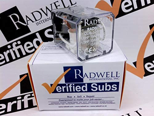 RADWELL VERIFIED SUBSTITUTE 5X823SUB 10A 2PDT OCTAL Relay, Relay - 24VAC