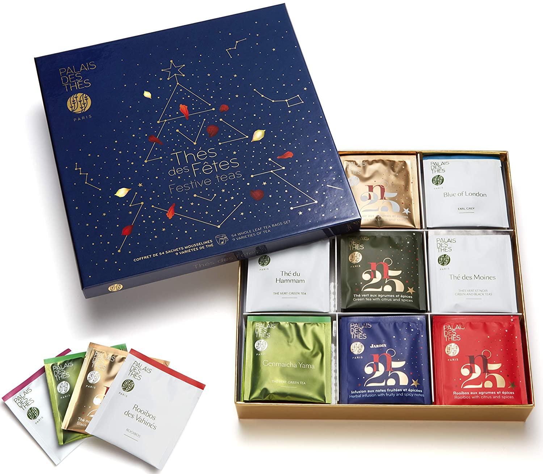 Palais des Thés Festive Teas, Selection of 9 Blended Teas in a Presentation Box, 54 Tea Bags