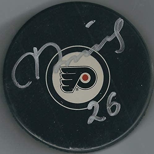 Autographed Rusian Fedotenko Philadelphia Flyers Hockey Puck with COA