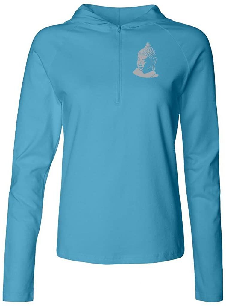 Yoga Clothing For You Ladies Half-Zip Buddha Profile Stretch Hoodie