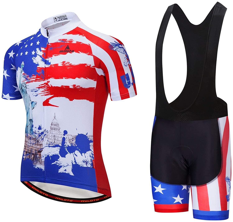 MILOTO Bike Jerseys Men Biking Clothing Bicycle Jacket Team Cycling Shirts Tights