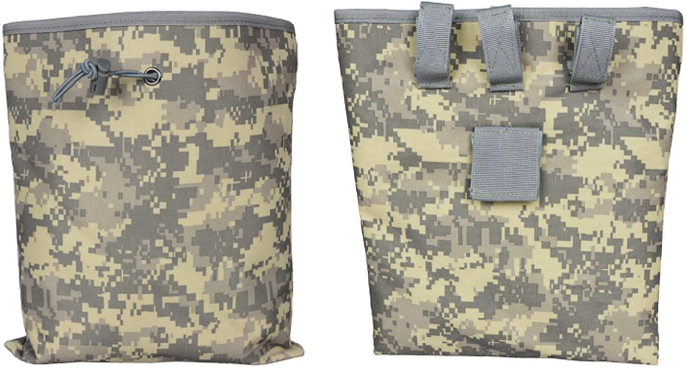 Black Hawk Commandos Big Molle Tactical Magazine Dump Pouch Outdoor Sport Pouch Recyclable Drawsting Climbing Chalk waist Bag