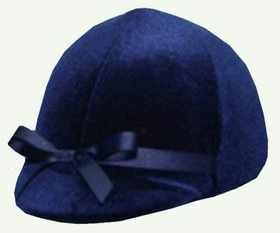 Equestrian Riding Helmet Cover - Navy Velvet
