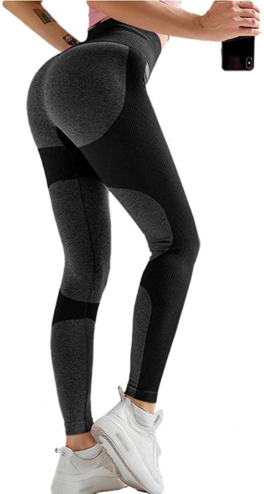 iRACHEU High Waisted Tummy Control Yoga Pants for Women Activewear Workout Leggings