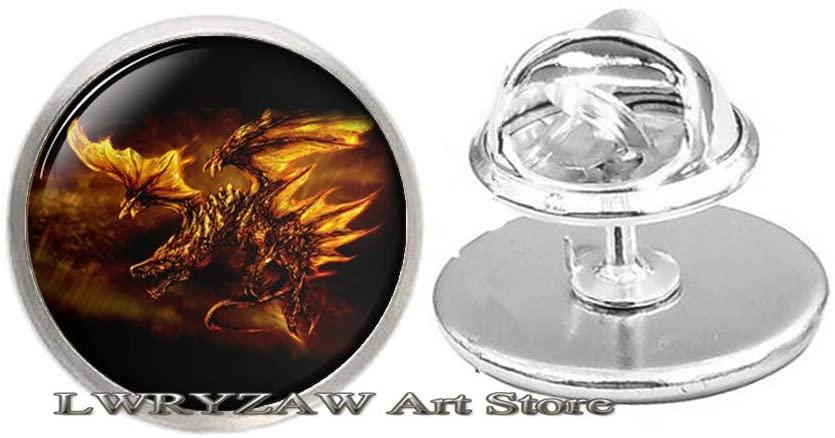 Dragon Brooch,Dragon Charm Brooch Animal Gift Dragon Charm Dragon Jewelry,Fantasy Jewelry Mythology Brooch Dragon Gifts,M322