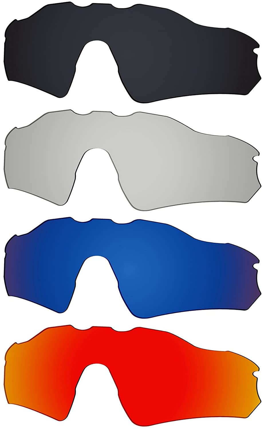 Galvanic 4 Pieces Replacement Lenses for Oakley Radar EV Path OO9208 Pack P01