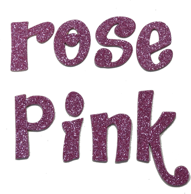 Rose Pink Metallic Glitter HandCut 1.5
