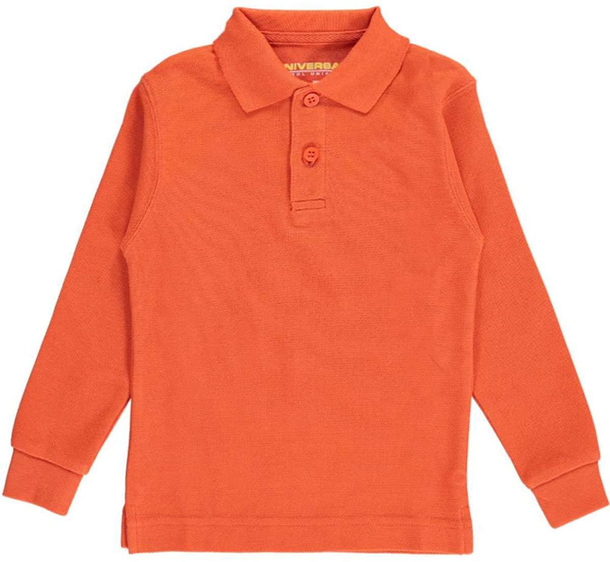 Universal Unisex L/S Pique Polo - Orange, 2t