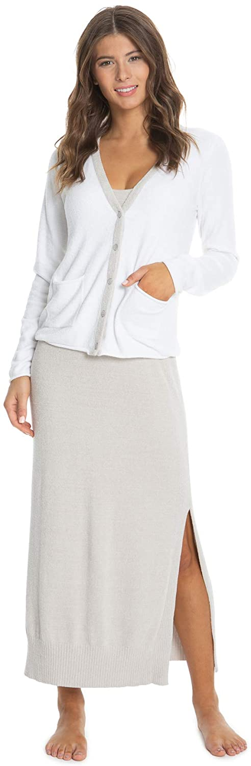 Barefoot Dreams CozyChic Ultra Lite Tipped Cardi, Long Sleeve Cardigans, Knitted Sweaters for Women