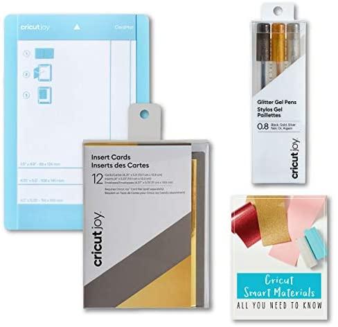 Cricut Joy Machine Card and Cutting Mat Bundle (Metallic Gold and Gray Card Bundle)